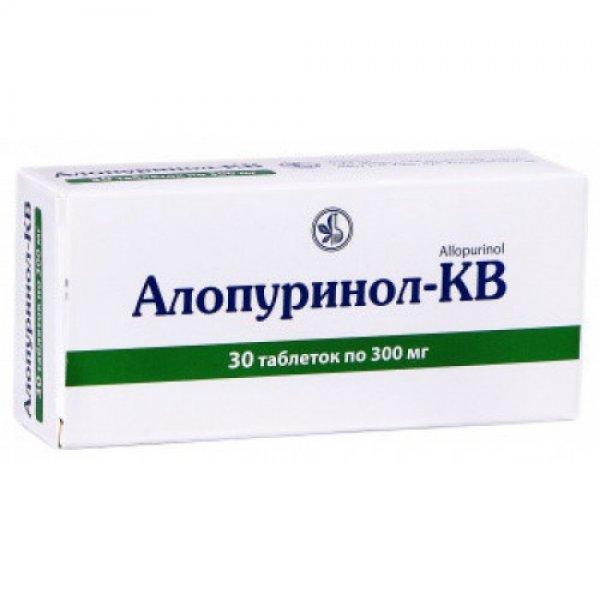 АЛЛОПУРИНОЛ-КВ таблетки по 300 мг №30