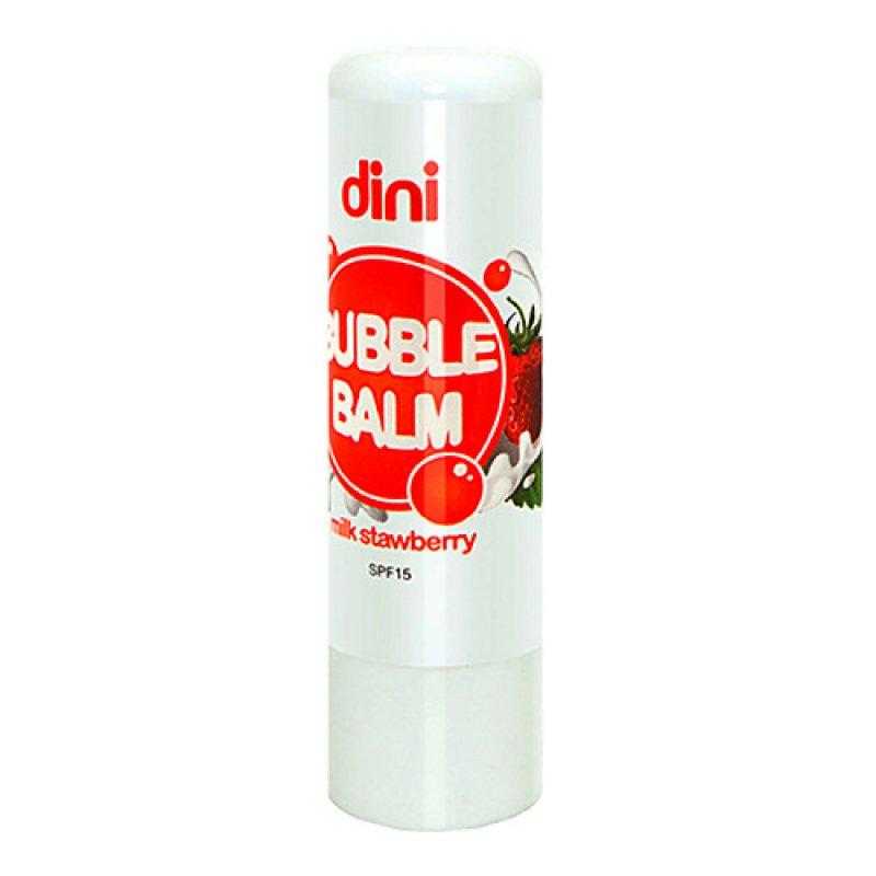 DINI  помада гигиеническая Bubble Balm  клубника 4,5г