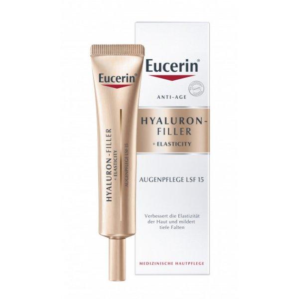 Eucerin  Гиалурон филлер+Еластисити антивозр.крем д/кож.вок.глаз SPF15