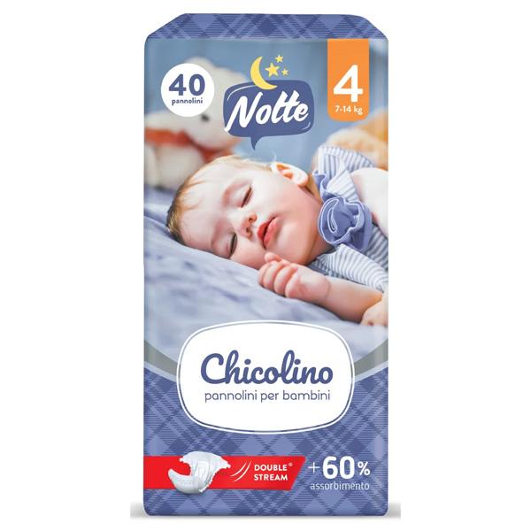 Chicolino підгузники дитячі 4 (7-14кг) 40шт NIGHT