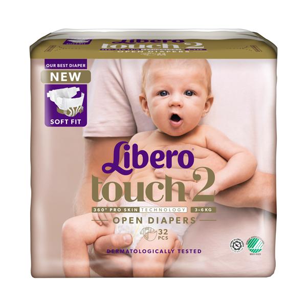"LIBERO подгузн  Touch ""2"" (3-6 кг) 32шт"