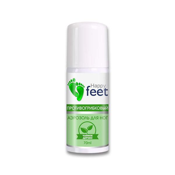 "HAPPY FEET Аэрозоль для ног ""Противогрибковый"" (Чайное дерево)70мл"