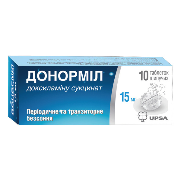 ДОНОРМИЛ тбл. шип. 15мг N10