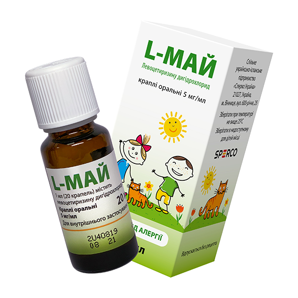 L-МАЙ  капли 5 мг/мл 20 мл фл.