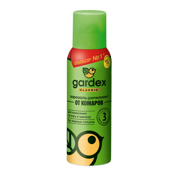 GARDEX CLASSIC Аэрозоль-репеллент от комаров 100мл