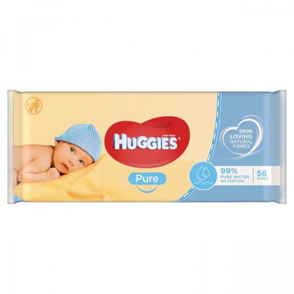 HUGGIES Салфетки влажные pure 56Х10