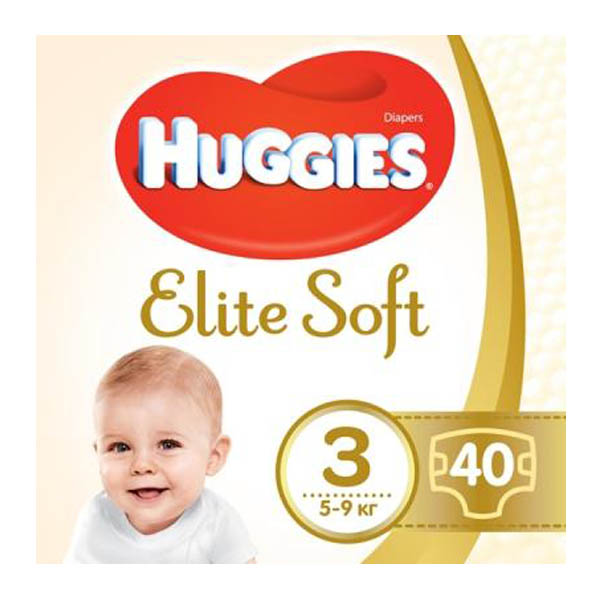 HUGGIES Elite Soft подгузн. jumbo 3 40x4
