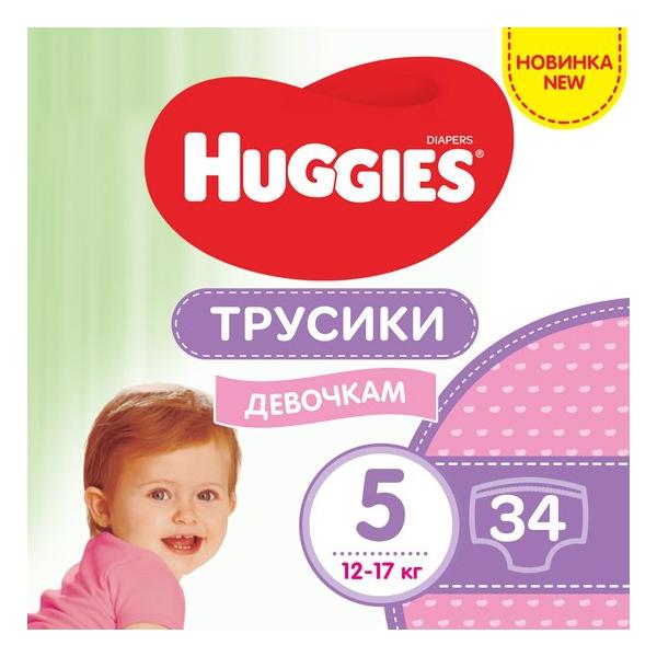 HUGGIES pant Трусики-подгузники jumbo 5  34x2 Girl