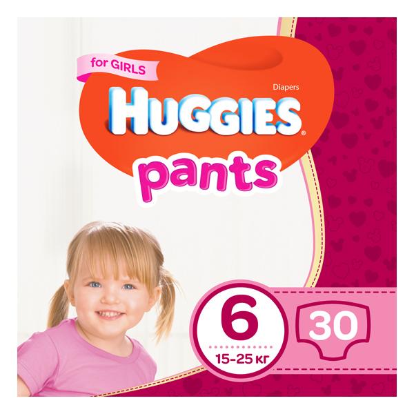 HUGGIES pant Трусики-подгузники jumbo 6  30x2 Girl