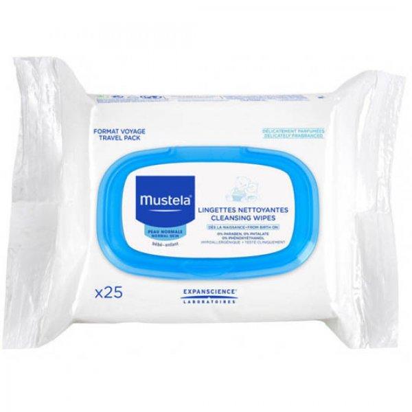 Mustela Facial Cleansing cloth серветки очищуючі для обличчя, 25 шт.
