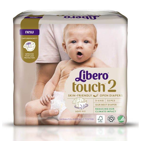 LIBERO Touch детские подгузн 2 (3-6 кг) 32шт