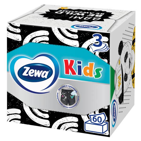 Косметические салфетки Zewa Kids Zoo 3 слоя 60шт