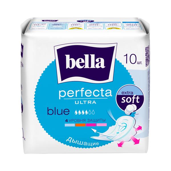 BELLA Прокладки Белла Перфекта Ultra Blue. 10 шт