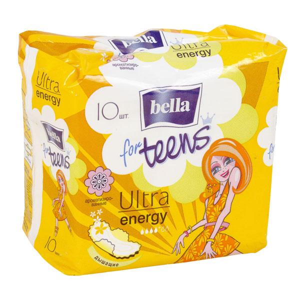 Bella Прокладки Bella for Teens: Ultra Energy silky drai deo exotic fruits. (10 шт)