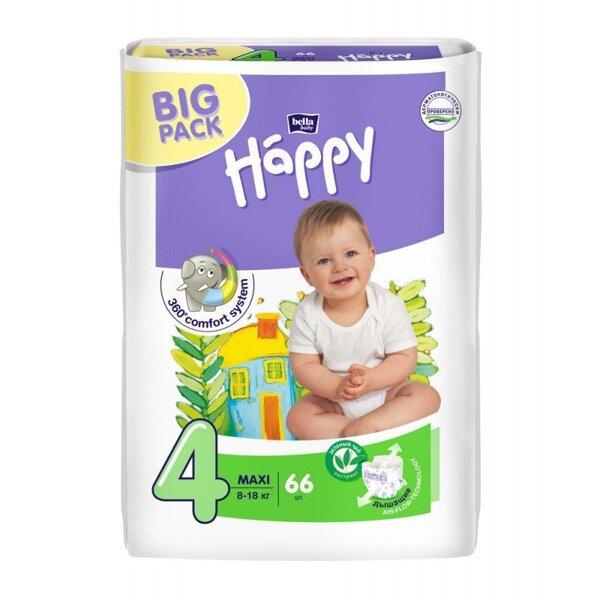 BELLA Підгузки дитячі HAPPY BELLA BABY maxi. 66 шт