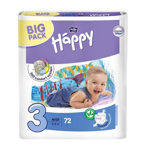 BELLA  Підгузки дитячі HAPPY BELLA BABY midi  72 шт.