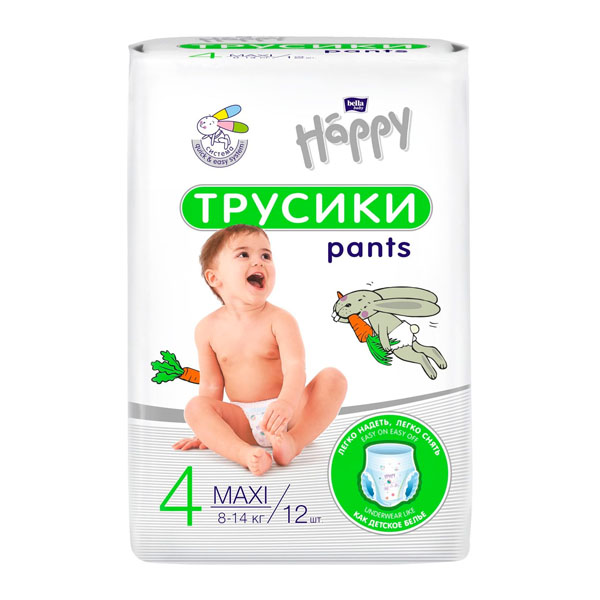BELLA Підгузки-трусики дитячі HAPPY BELLA BABY maxi 12 шт