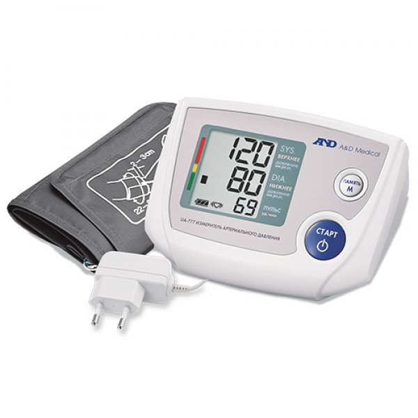 A&D Прилад для вимірювання артеріального тиску та частоти пульсу A&D UA-777AC-L