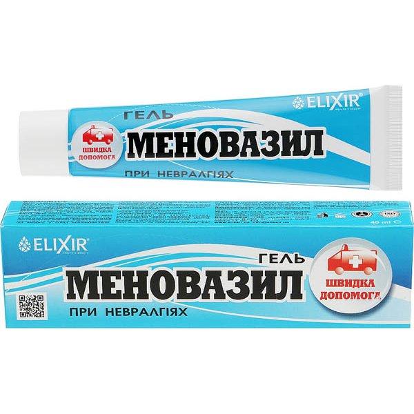 """""""Еліксір"""" Гель """"Меновазил"""" 40 мл"""