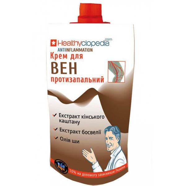 """""""Healthyclopedia"""" Крем  для вен протизапальний  Antiinflammation 100 мл"""