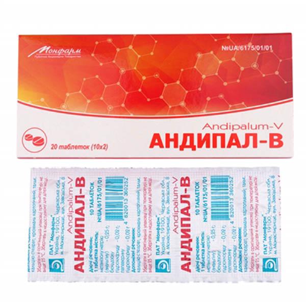 АНДИПАЛ-В тбл. N20