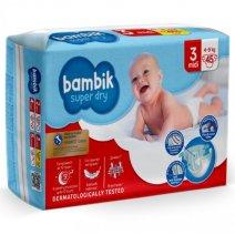 Bambik Підгузки дитячі одноразові Jumbo (3) MIDI (4-9 кг), 45 шт