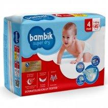 Bambik Підгузки дитячі одноразові Jumbo (4) MAXI (7-18 кг), 45 шт