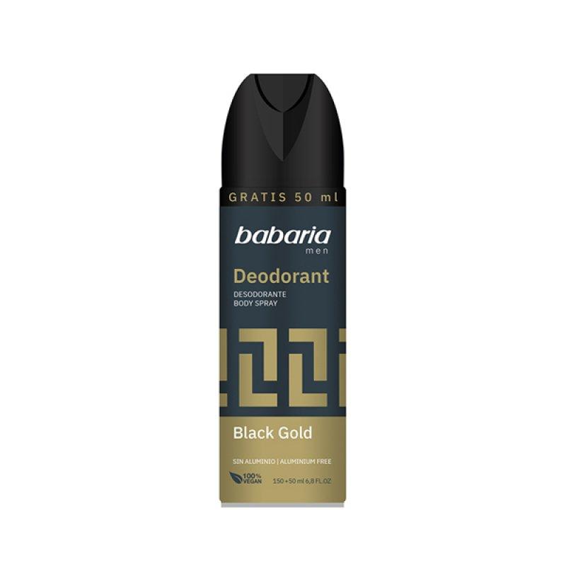 Babaria дезодорант-спрей для тіла Чорне золото 200 мл