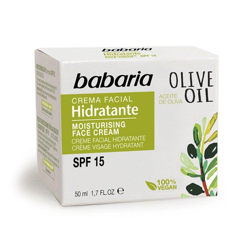 Babaria зволожувальний крем для обличчя з олією оливи SPF15 50 ml