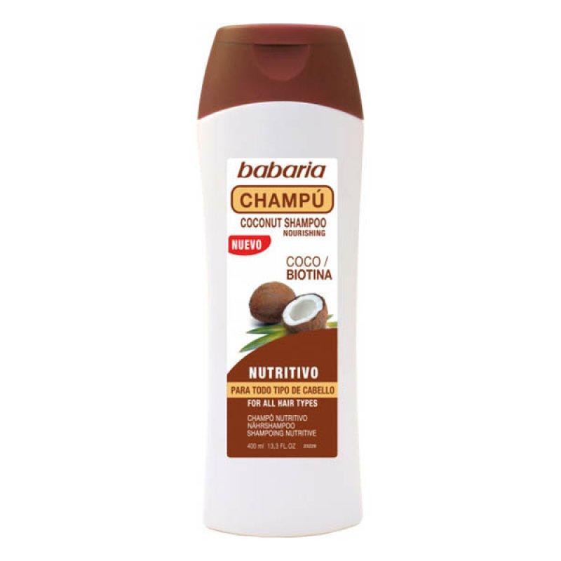 Babaria живильний шампунь з кокосом та біотином400 ml